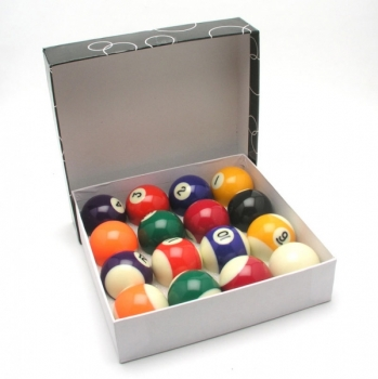 "Poolballsatz Eco 57,2mm 2-1/4"" Queueball 60,2mm"