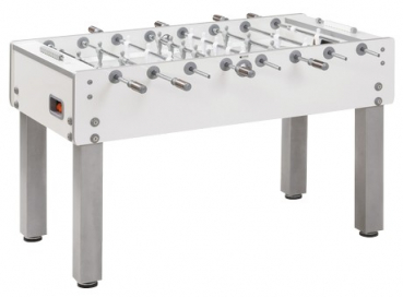 Football Table Garlando G500 pure white, Glass Playfield