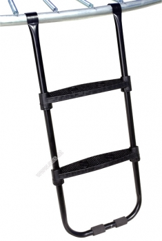 Access ladder for outdoor trampoline