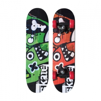 Skateboard Tribe Monsters, multicolored