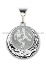 Medal Soocer Silver with collar