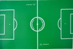 Playfield card for Garlando soccer table